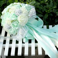 Find More Wedding Bouquets Information about Pack with Box 5 Colors Mint Green Artificial flowers Wedding Bouquets 2016 Romantic Wedding brooch bouquets Wedding Accessies P4,High Quality p4 530,China flower girl gold shoes Suppliers, Cheap p4 cpu from LaceBridal on Aliexpress.com