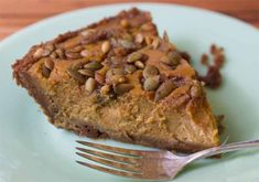 Give classic pumpkin pie a twist with a gingersnap crust and a topping that combines pumpkin seeds and candied ginger.