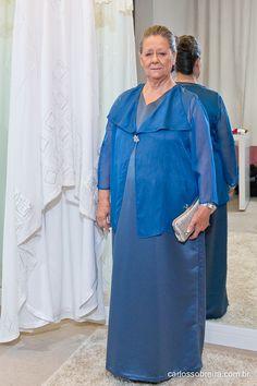 Vestido Sob Medida Carolina Barbosa, para avó da noiva.