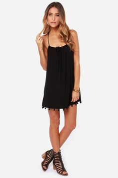 Lucy Love Emma - Black Dress - Lace Dress - $45.00