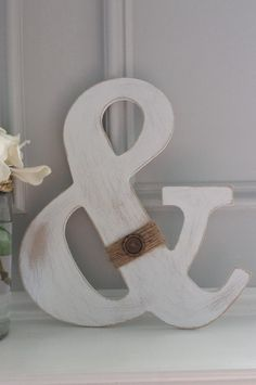 Ampersand Wall Decor ampersand and sign rustic wedding,photo prop, wall hanging wooden