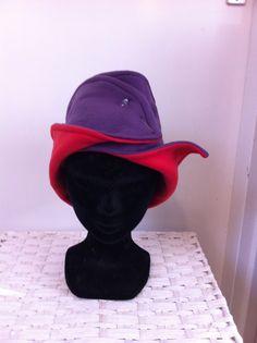 Rood met paars fleece hoofdband van FoxandThimble101 op Etsy