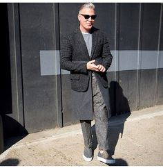 Street style: Menswear Influencer/God/Tastemaker and Greats' friend, Nick Wooster, wears the Wooster (Lardini collab). #beoneofthegreats #greatsbrand #greats