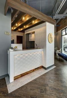 The Dental Studio - Modern Dental Office Design - Apex Design Build Clinic Interior Design, Clinic Design, Healthcare Design, Dental Office Design, Design Offices, Modern Offices, Apex Design, Design Design, Reception Desk Design
