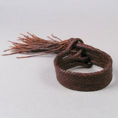 Artisanal Braided Leather Bracelet by Aaron Lopez Leather available at Shiprock Gallery Santa Fe NM
