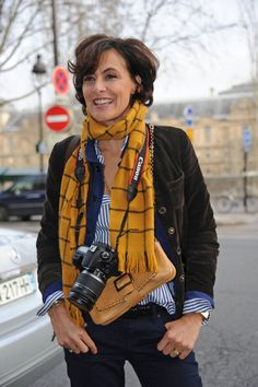 Ines de la Fressange - Celebs Arriving at the Versace Spring-Summer 2012 Show