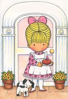 Vintage Valentines, Vintage Holiday, Funny Valentine, Joan Walsh, Strawberry Hearts, Hallmark Cards, Holly Hobbie, Vintage Paper Dolls, Naive Art