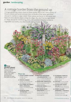 cottage garden planting guide from bhg