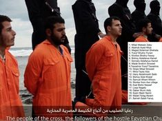 These are the names of the 21 men beheaded because they are Christians, Christ followers, people of the cross. Pray for believers all over the world!