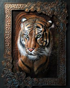 Tiger #dinnidworkshop #handmade #leather #leatherart #leatherwork #leathercraft #leathercarving #trioleatherart #tiger #leathertiger #皮雕… Leather Carving, Leather Art, Leather Design, Christine Lee, Emboss Painting, Leather Tooling Patterns, Leather Craft Tools, Leather Bags Handmade, Wooden Art