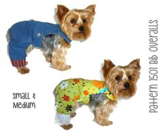 1501 Dog Bib Overalls Pattern for the Little Dog by SofiandFriends