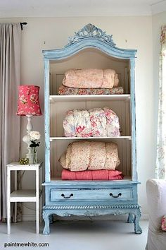 recycled furniture for teen girl room with armoire---I NEED THIS