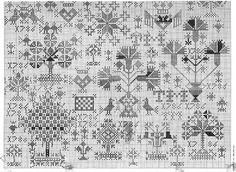 PATROON: Friese merklap 1786 cross-stitch - free