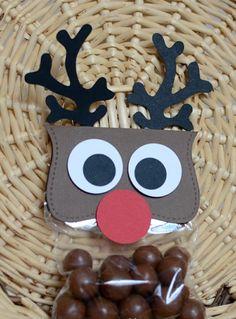 Rentier basteln - Süßigkeiten verpacken