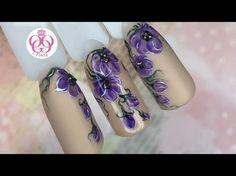 Очень ЛЕГКИЙ дизайн ногтей ЦВЕТЫ♥Весенний маникюр от ОЛЕСИГЕС - YouTube
