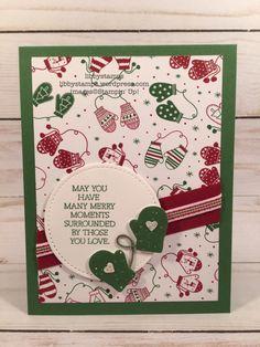 libbystamps, stampin up, Smitten Mittens Smitten MittensRemove term: Smitten Mittens Bundle Smitten Mittens Bundle, Many Mittens Many Mittens, Quilted Christmas 1/4 Ribbon Quilted Christmas 1/4 Ribbon, Cookie Cutter Builder Punch Cookie Cutter Builder Punch, CCMC
