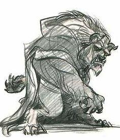 art disney beauty and the beast concept art glen keane The Beast disney concept art beauty and the beast concept art