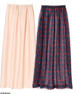 Mach es selbst: le maxi-jupon: Mode mach es selbst Kreation maxi jupon jupe ok . - Mach es selbst: le maxi-jupon: Mode mach es selbst Kreation maxi jupon jupe ok . Skirt Fashion, Diy Fashion, Fashion Design, Elle Fashion, Sewing Clothes, Diy Clothes, Do It Yourself Mode, Maxi Skirt Style, Make Your Own Clothes