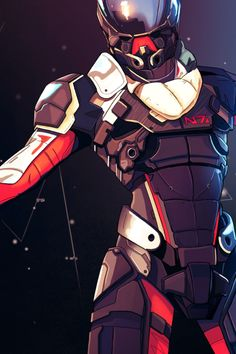 mothblank:  What I ~think~ the new Mass Effect N7 armour looks like based on the E3 Andromeda trailer
