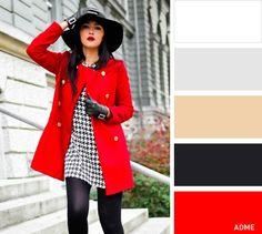Если вы надеваете одежду красного цвета, будьте готовы к повышенному вниманию: это цвет для уверенных в себе людей. Настоящей классикой является сочетание черного и красного. Выбирайте такие вещи, чтобы цвета были представлены крупными цветовыми блоками. Например, комбинируйте черно-белое платье с черными колготками и красным пальто.