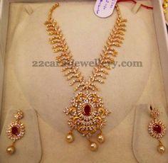 Very Nice Work CZ Necklace | Jewellery Designs