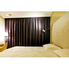 black-out curtains in hotel Sound Garden, made by firanelle.pl