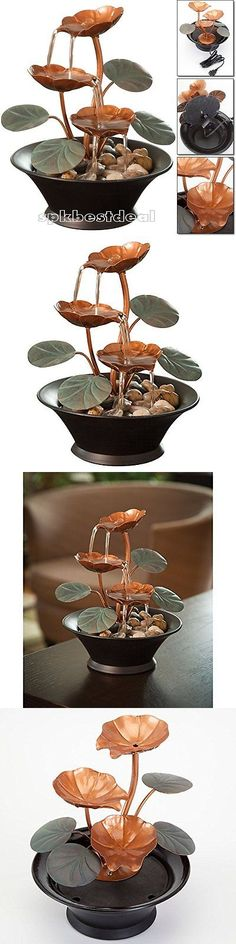 Indoor fountains 20569 table top water fountain indoor decoration indoor fountains 20569 indoor tabletop water fountain lily lotus water flower waterfall natural decor workwithnaturefo