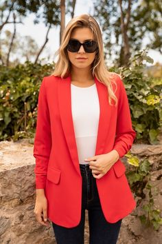 Hair Goals Color, Blazer, How To Wear, Jackets, Women, Fashion, Outfit, Down Jackets, Moda
