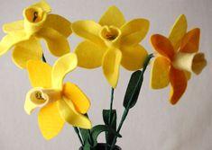 Felt daffodil, January project JAN 23RD