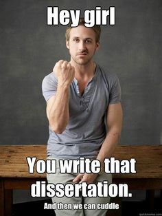 Great inspiration for finishing that dissertation FOR GOOD!