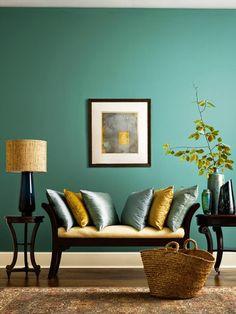 7 ideas de decoración de salas en verde