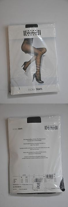Slips 11532: Wolford Brand New Flora Black Tights Size L -> BUY IT NOW ONLY: $50 on eBay!