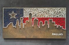 Custom Dallas Skyline String Art Texas by CactusCustomDesigns