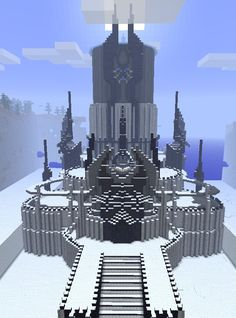 Ice Palace #minecraft... reminds me of Frozen.. let it go... LET IT GOOOO!!!!