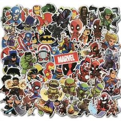 Cartoon Cute Super Hero Stickers MARVEL Graffiti Decals Bomb Sticker Pack For Kids Gift Toy Skateboard Luggage Laptop Superhero Spiderman, Avengers Superheroes, Marvel Heroes, Sticker Bomb, Cheap Stickers, Kids Stickers, Graffiti, Vinyl For Cars, Luggage Stickers