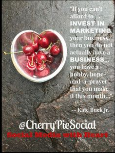 Truth! Great quote from Kate Buck, Jr.!  #SocialMedia #Marketing #SocialMediaMarketing #CherryPieSocial #SantaFe #SantaFeNM #NewMexicoTRUE #NewMexico #Denver #Boulder #Colorado #Phx #Phoenix #Scottsdale #AZ #Arizona #SmallBusiness