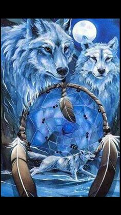 Dream catcher  and wolves