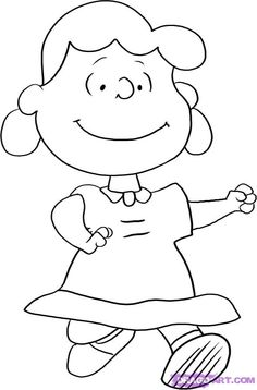 Lucy Van Pelt | How to Draw Lucy Van Pelt from The Peanuts Gang, Step by Step ...