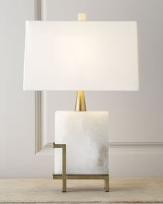 """Herst"" Lamp by Arteriors - sculptural and chic table lamp"