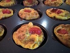 Easy brekkie to go Egg muffins / omelet muffins #paleo #organic
