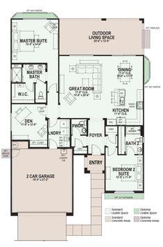 Dolce - SaddleBrooke Ranch - Arizona 55+ Community Floorplan