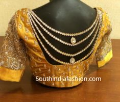 Latest Bridal Saree Blouses by Mantra - The Design Studio! Silk Saree Blouse Designs, Fancy Blouse Designs, Blouse Patterns, Fancy Sarees, Party Wear Sarees, Latest Salwar Kameez Designs, Bridal Silk Saree, Silk Sarees, Mirror Work Blouse