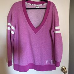 Beautiful pullover Used a few times but still in excellent condition, no rips or stains PINK Victoria's Secret Sweaters