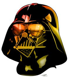 STAR WARS Darth Vader Art Print / Tom Brodie - Browne