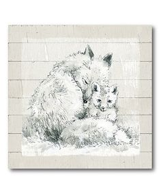 Love this Prairie Foxes Wrapped Canvas on