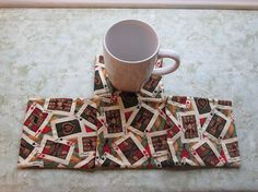 poker night set of mug rugs by KjsKwilting on Etsy, $8.00