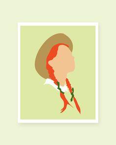 Anne of Green Gables Art Print Printable 8x10 PDF INSTANT DL on Etsy, $4.00