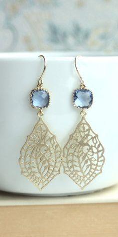 Beautiful peacock filigree design earrings