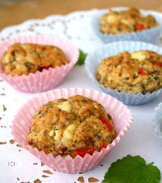 Pizzabolle-matmuffins - lindastuhaug Scones, Muffin, Gluten, Breakfast, Health, Food, Vegans, Morning Coffee, Muffins