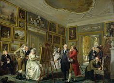 Nu kan vi alle rode i kunstværkerne på Rijksmuseum hjemmefra, samle, kommentere og udveklse. Hvor smukt!    De kunstgalerij van Jan Gildemeester Jansz in zijn huis aan de Herengracht te Amsterdam, Adriaan de Lelie, 1794 - 1795